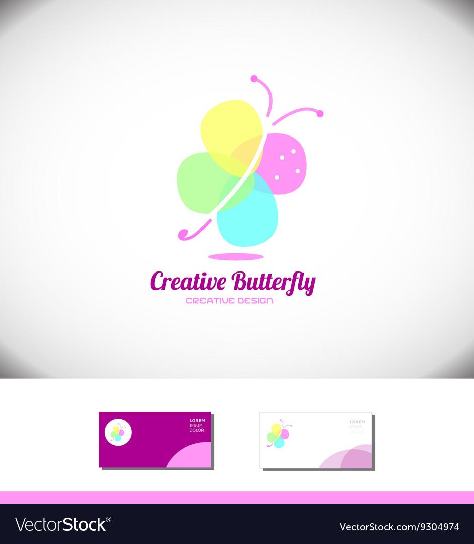 Butterfly spa beauty salon logo