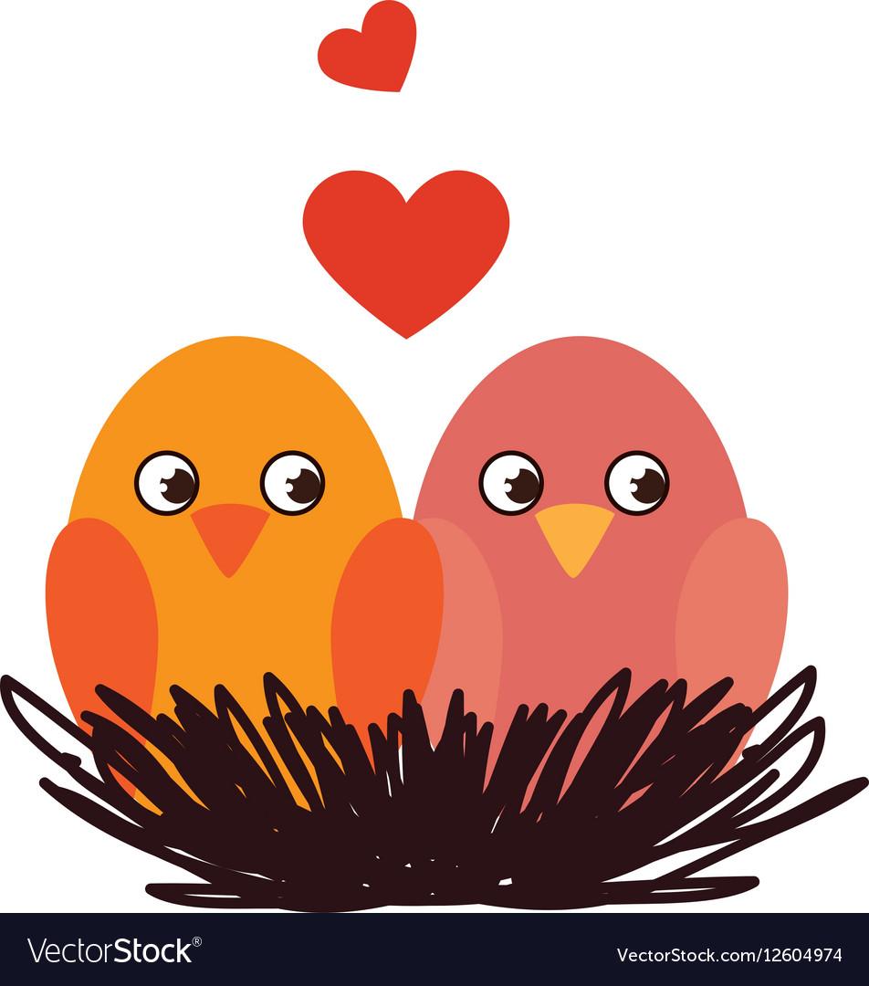Cute birds decorative card