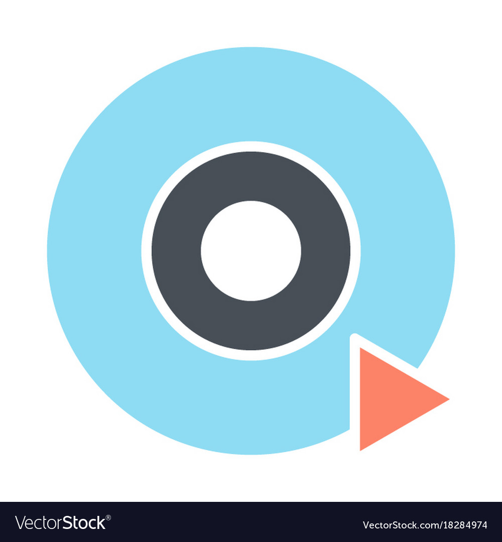 Disc cd dvd silhouette icon pictogram vector image