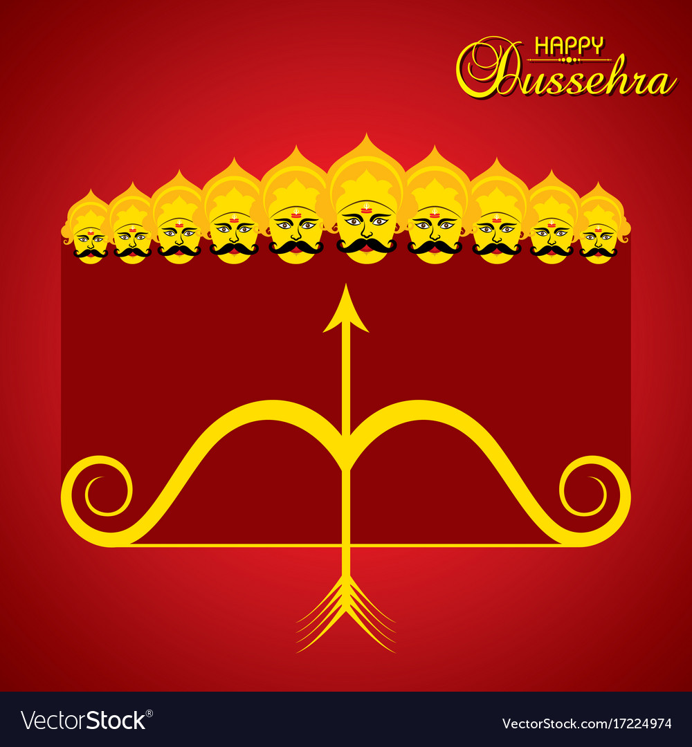 Dussehra festival greeting or poster design