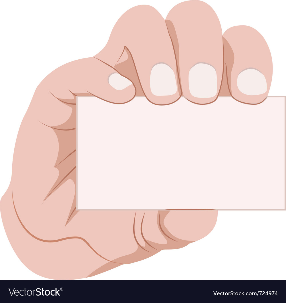 Hand holding business card Royalty Free Vector Image
