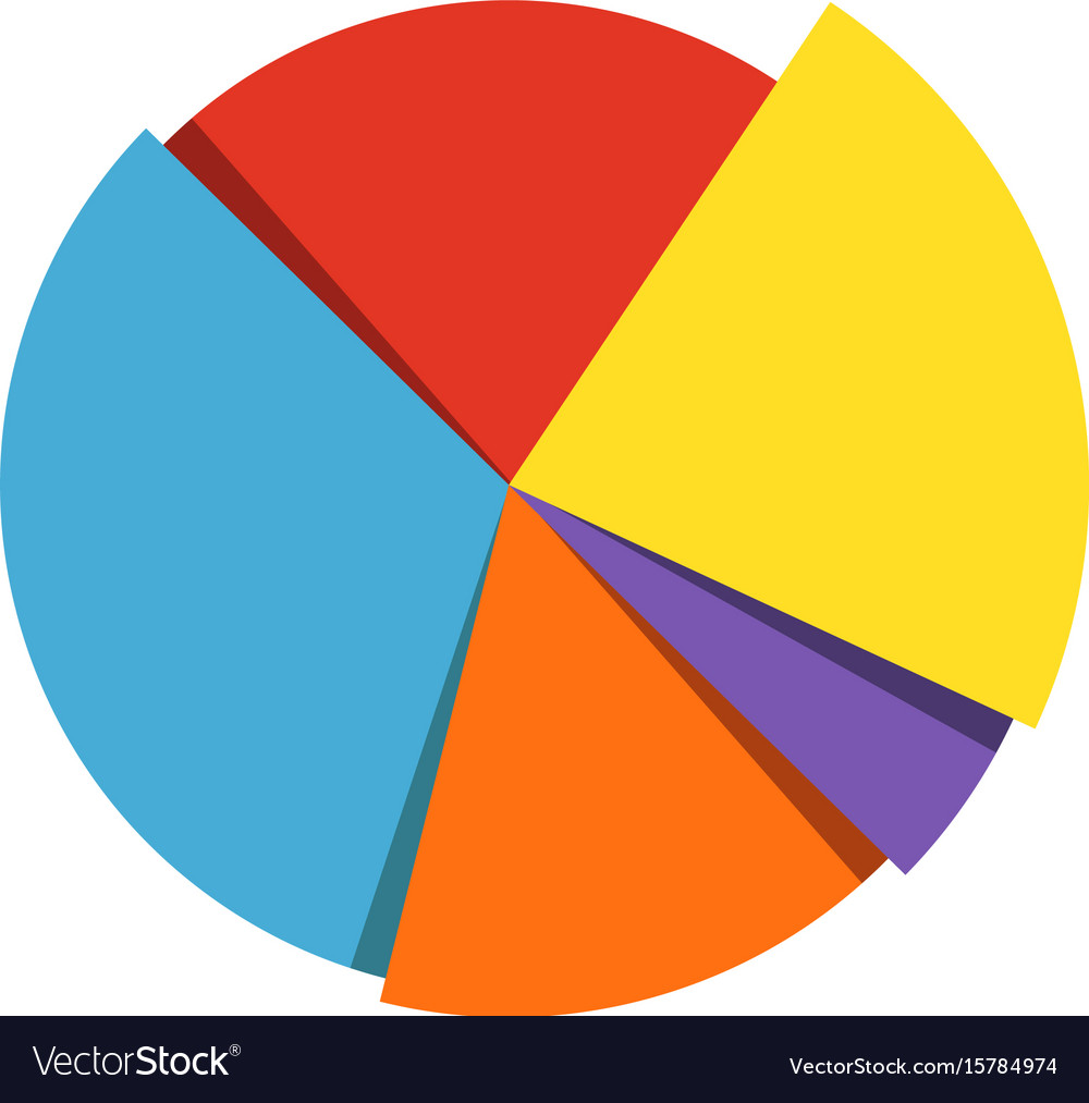 pie chart icon royalty free vector image - vectorstock