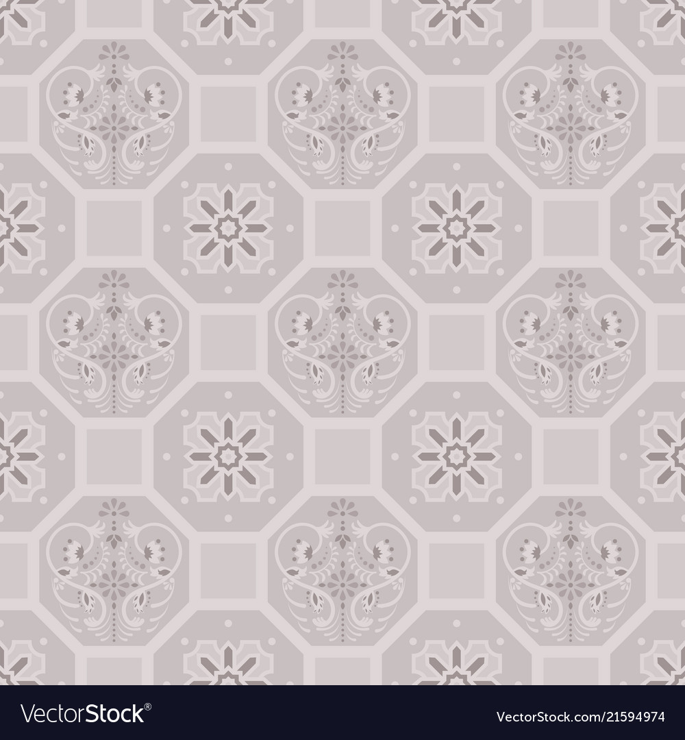 Floor Tiles Ornament Pattern Print