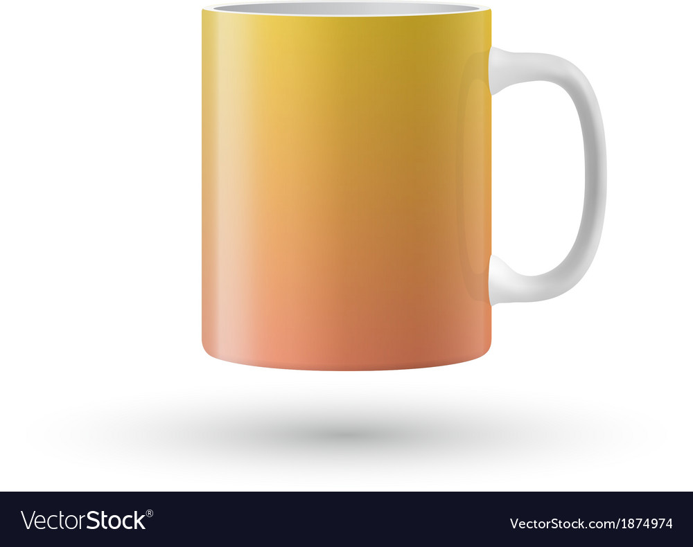 Yellow isolated cup