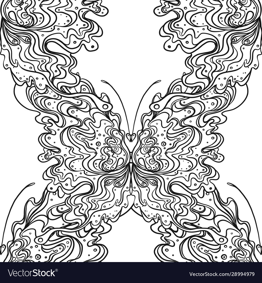 Abstract black and white seamless pattern art