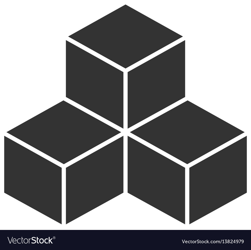 Black cubes on white background