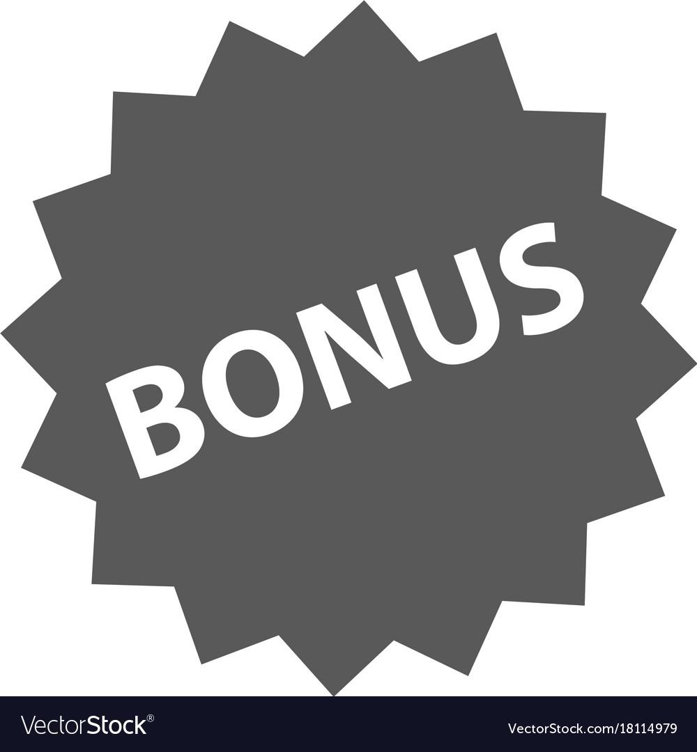Bonus sign icon simple