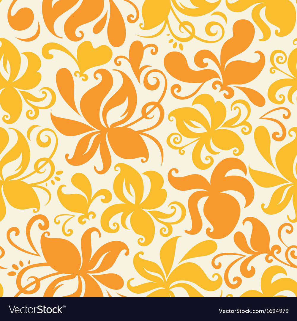Colored floral pattern
