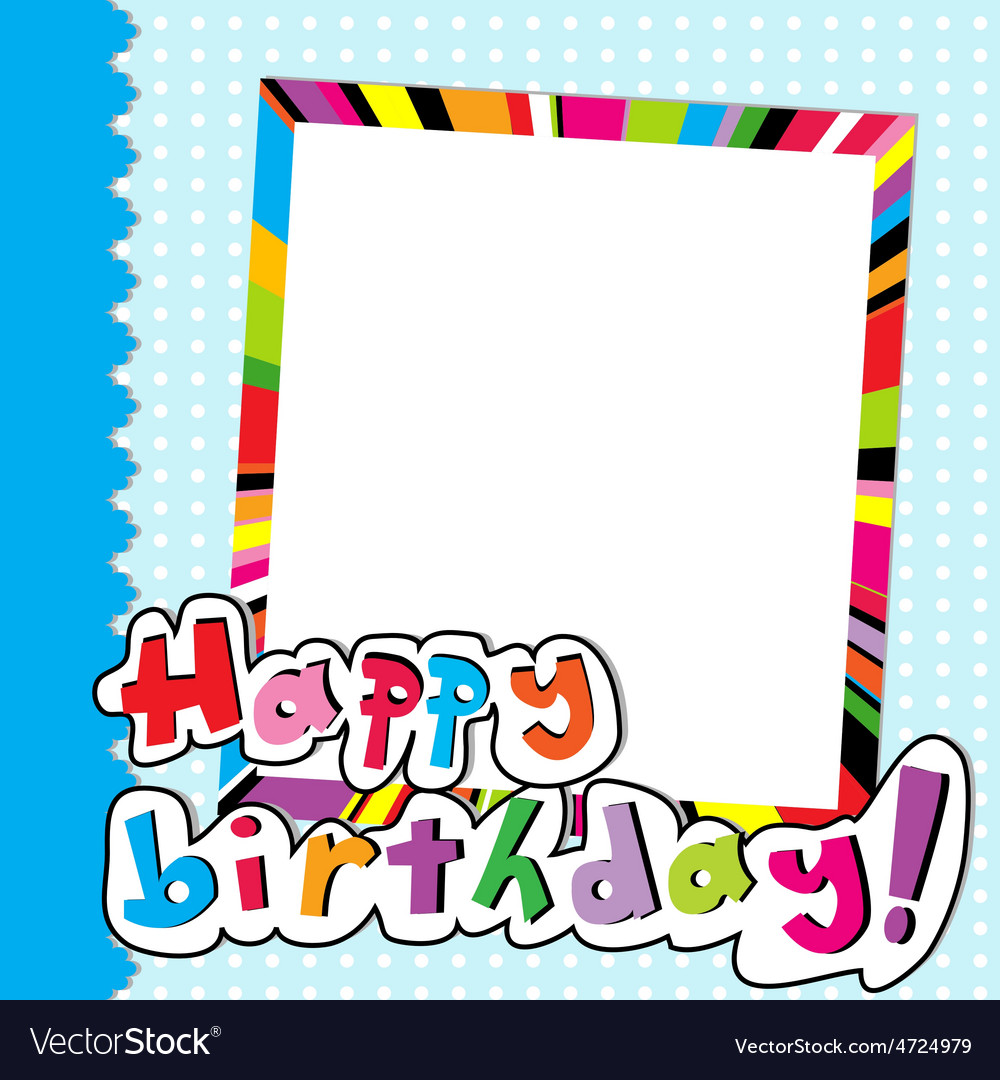 Happy Birthday Scrapbook Royalty Free Vector Image