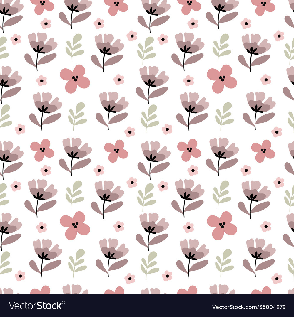 Seamless pattern in pastel colors spring mood