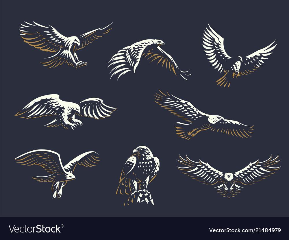 Set of eagles