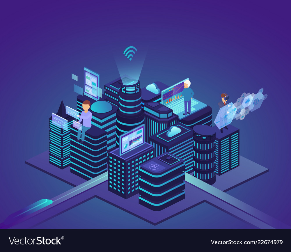 Smart city of high technology control system and