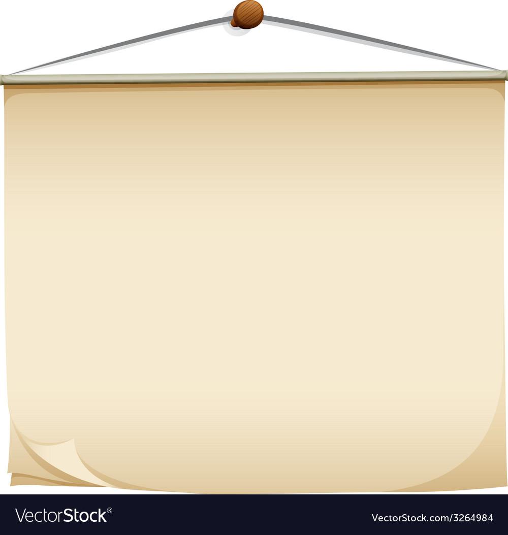 A hanging post-it pad