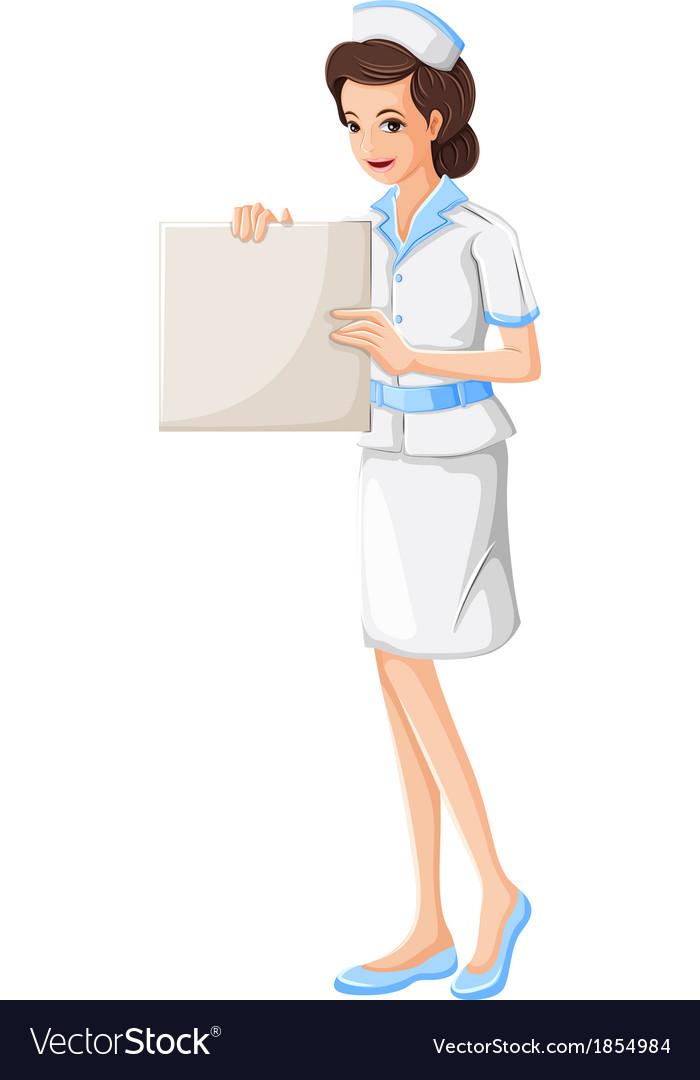A nurse holding a vacant chart