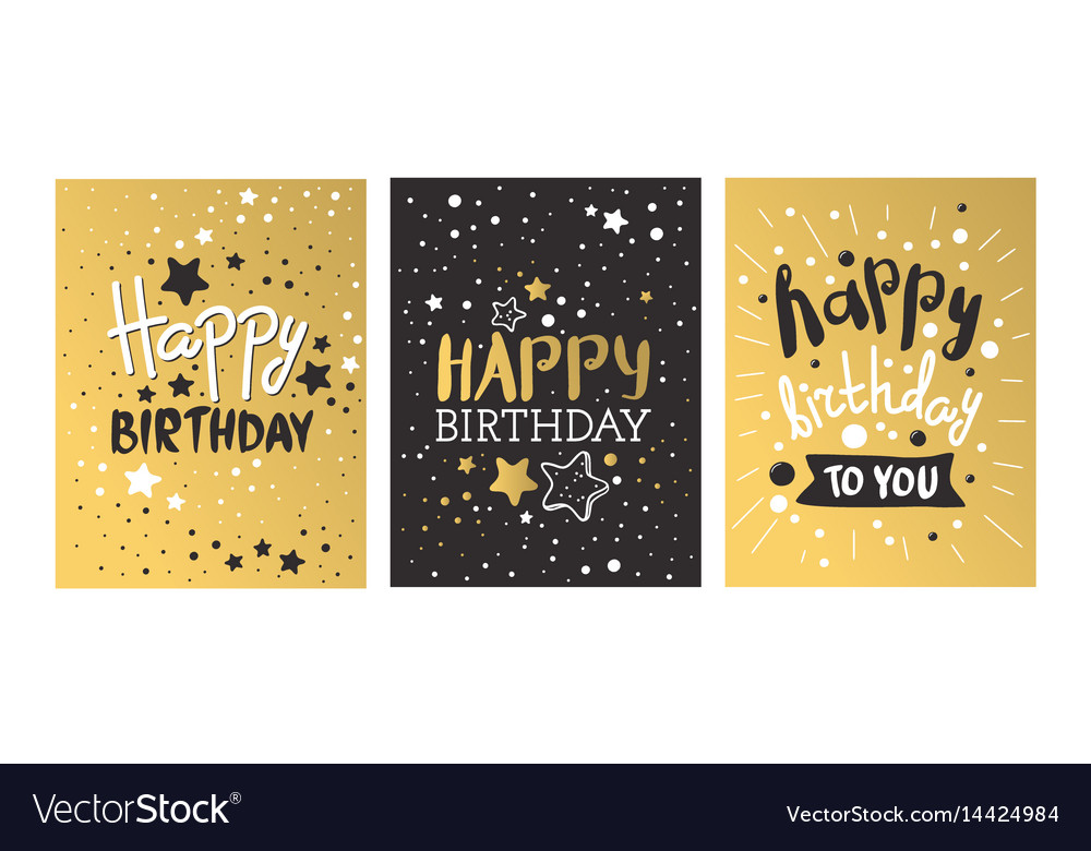 Beautiful birthday invitation card design gold and beautiful birthday invitation card design gold and vector image stopboris Image collections