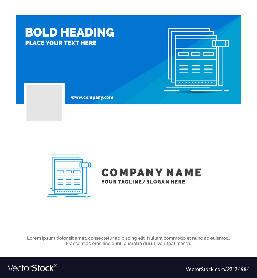 Blue business logo template for internet page web