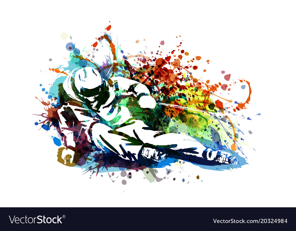 Color of a skier