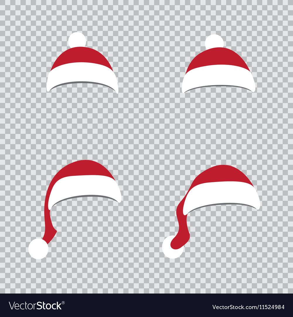 Different Santa hats vector image