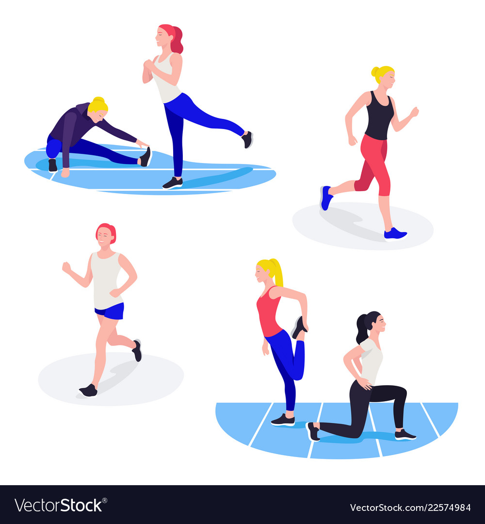 Fit Women Exercising Young Females Athletes Doing Vector Image See more ideas about athletic women, female athletes, fitness girls. fit women exercising young females athletes doing vector image
