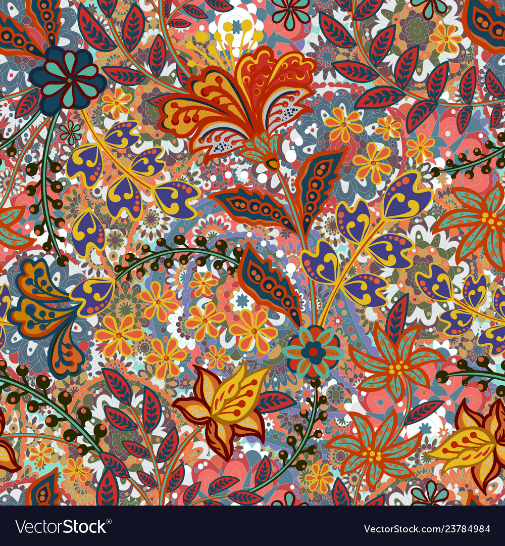Retro flower pattern in many kind florals
