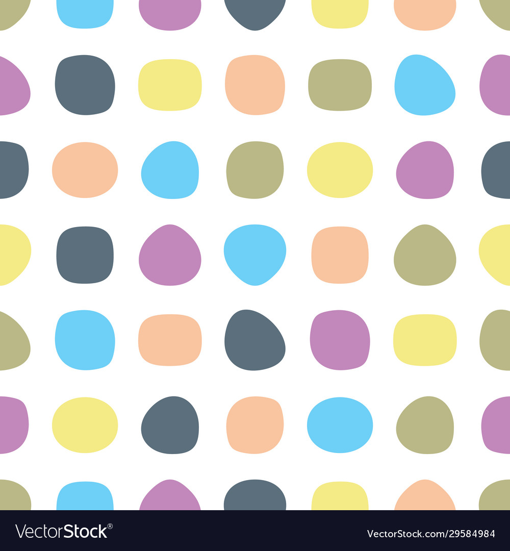 Simple seamless pattern with round shapes
