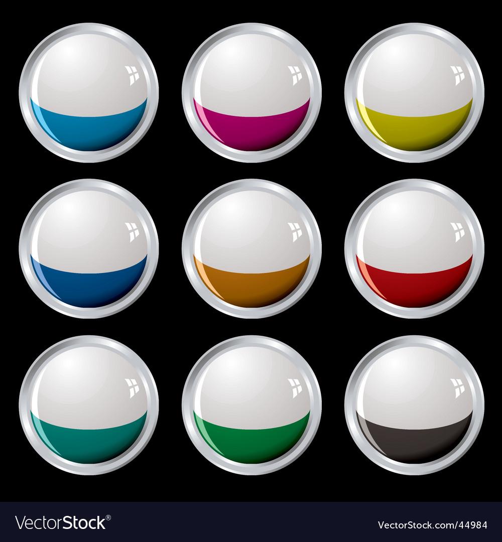 White top button silver
