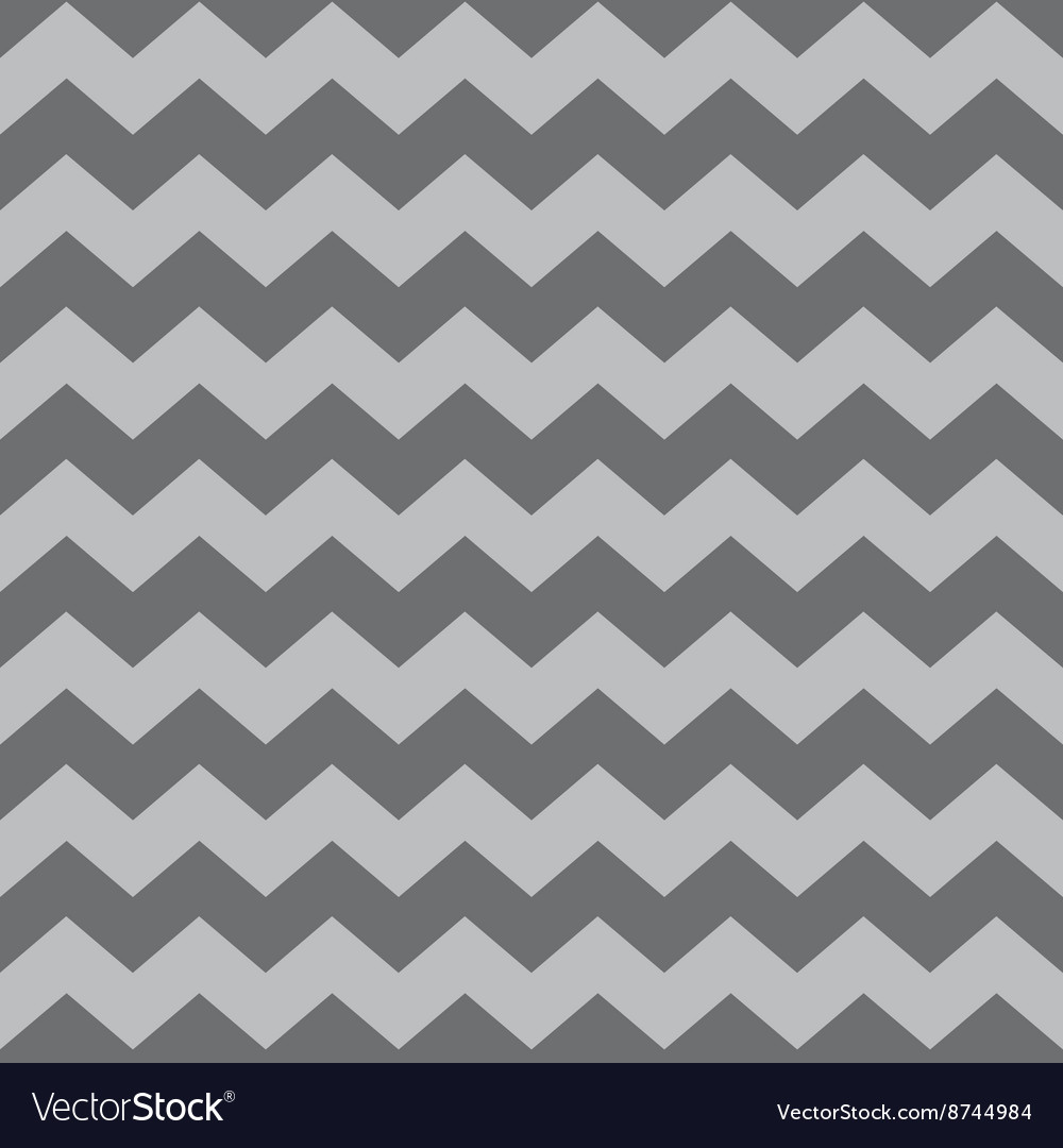 Zig zag chevron brown tile pattern vector image
