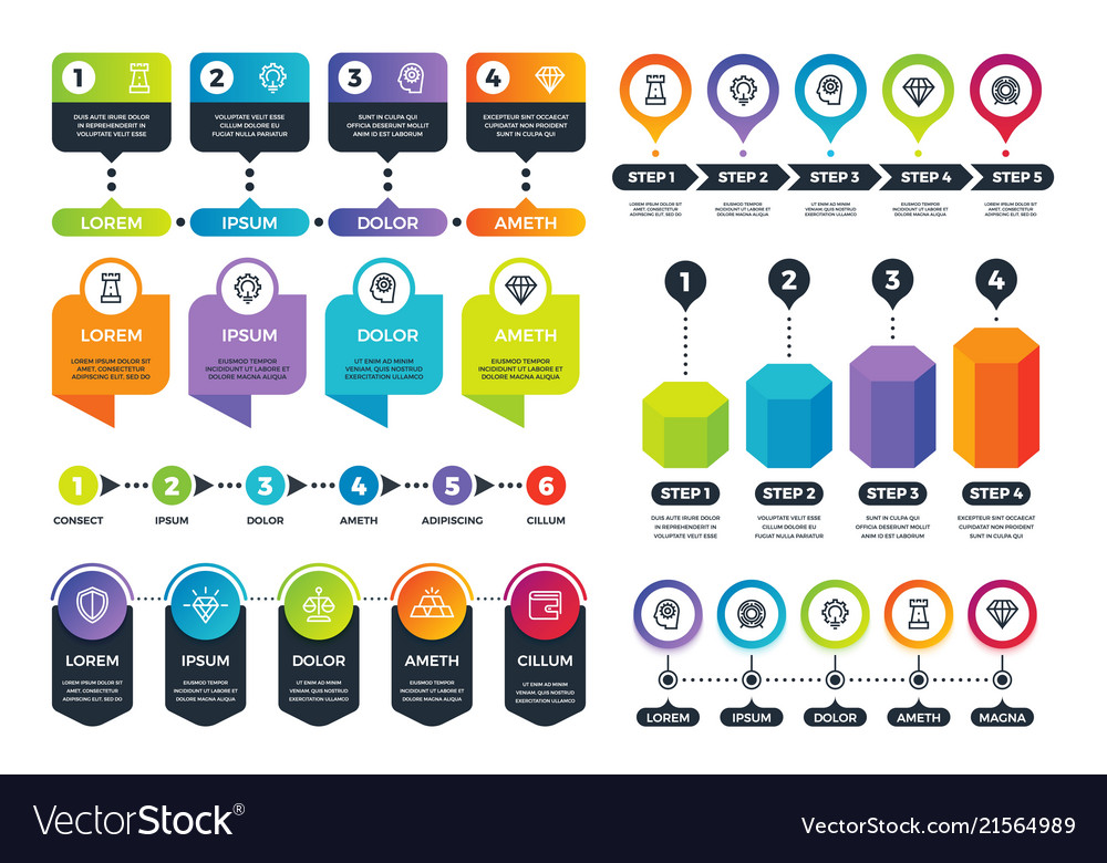 business infographics info graphs timeline and vector image