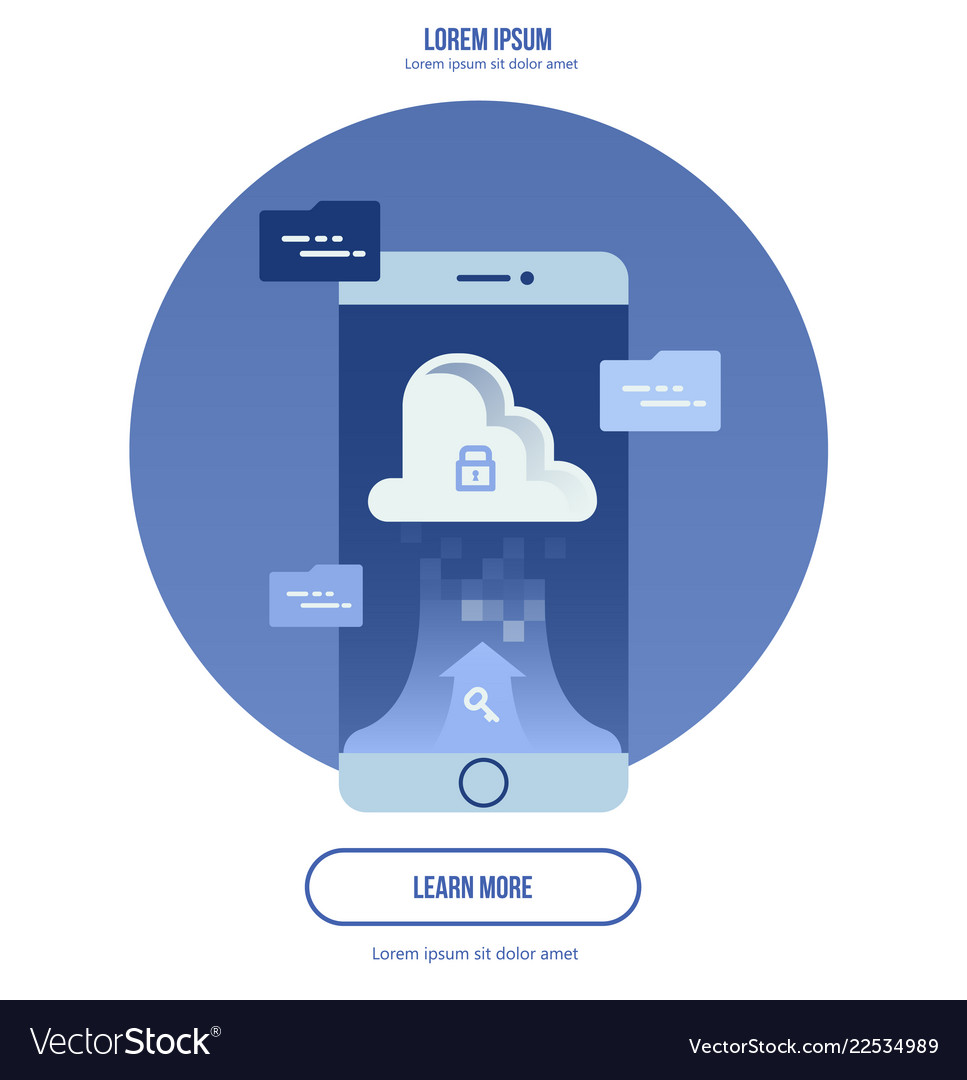 Cloud computing concept - connect devices to cloud