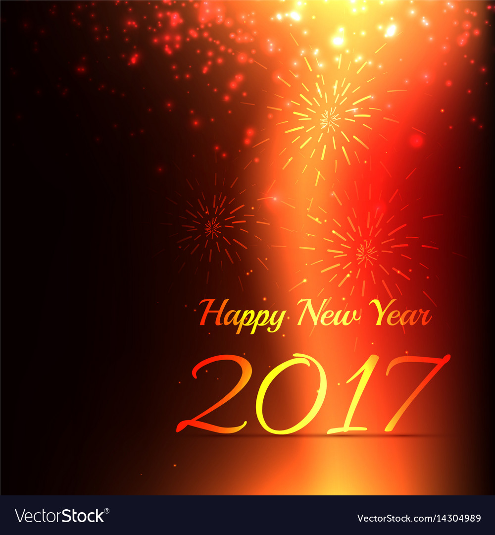 creative new year celebration background with vector image