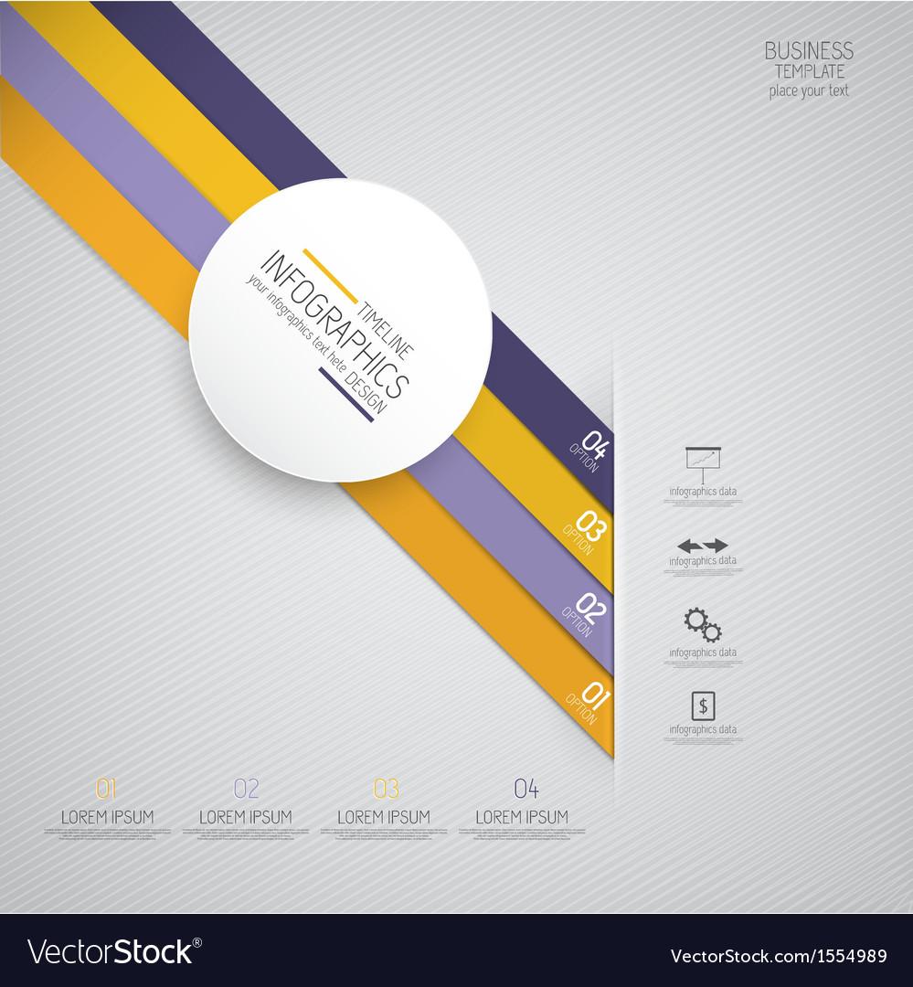 Design infographics 4 vector image