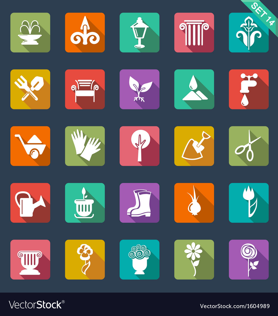 Gardening icons- flat design