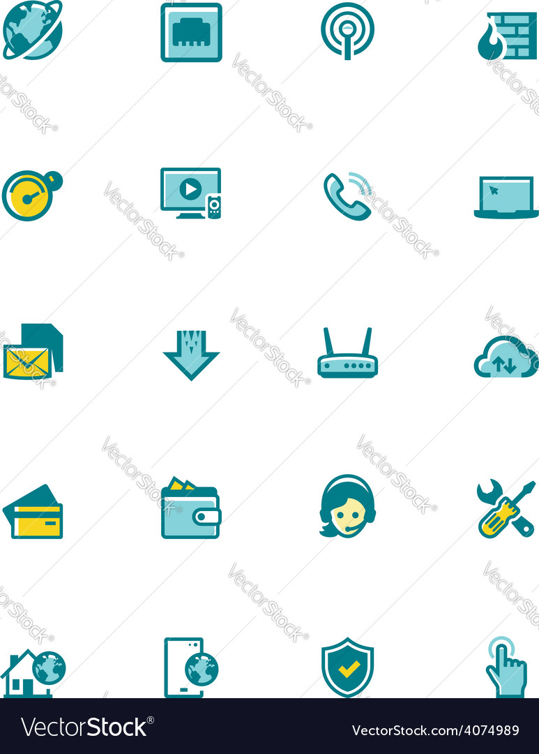 Internet service provider icon set