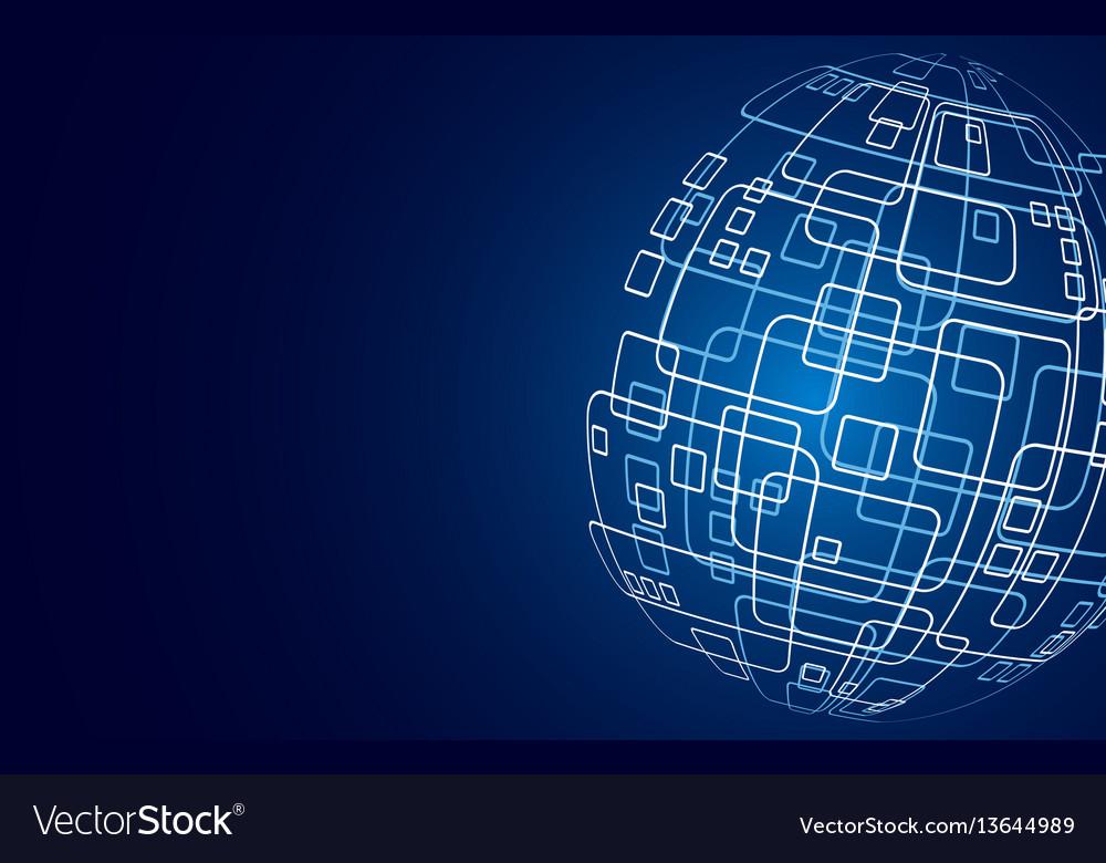 Modern techology concept background global