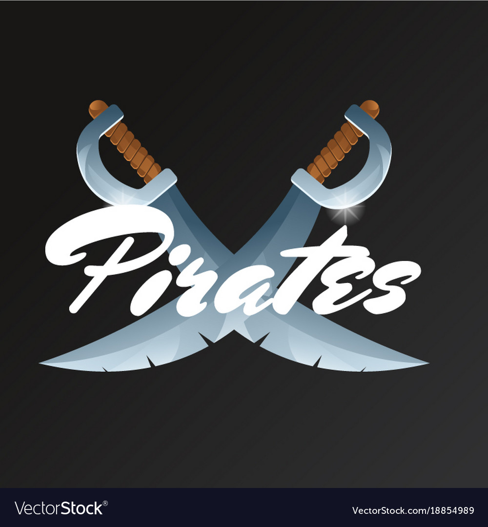 Pirates game element with crossed swords