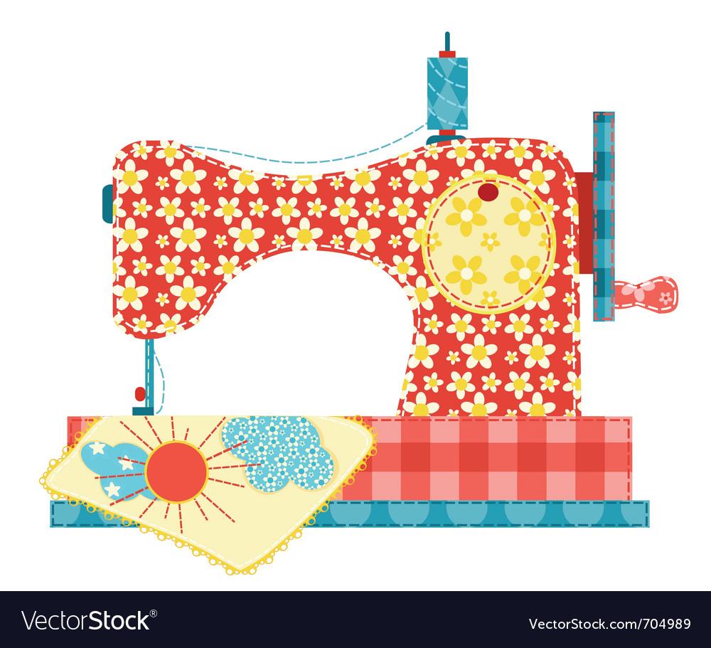 Sewing machine on white