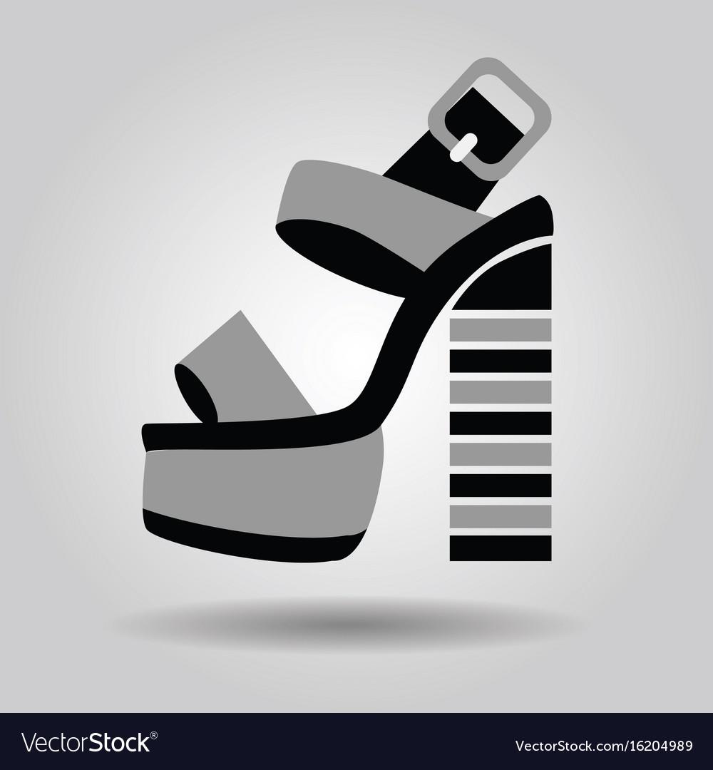 Single women platform high heel shoe with striped