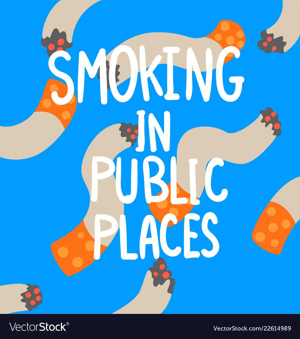 Smoking in public places cigarette addiction