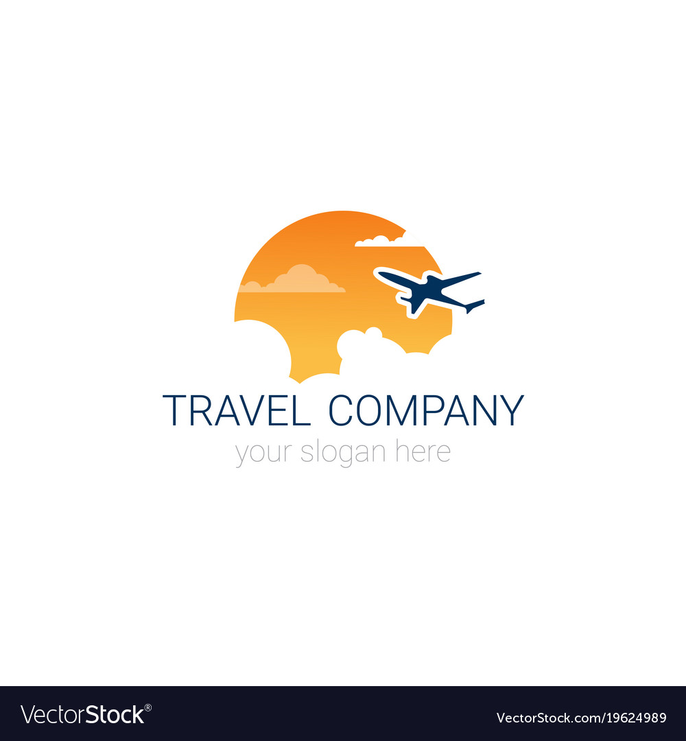 Travel company logo icon tourism agency banner