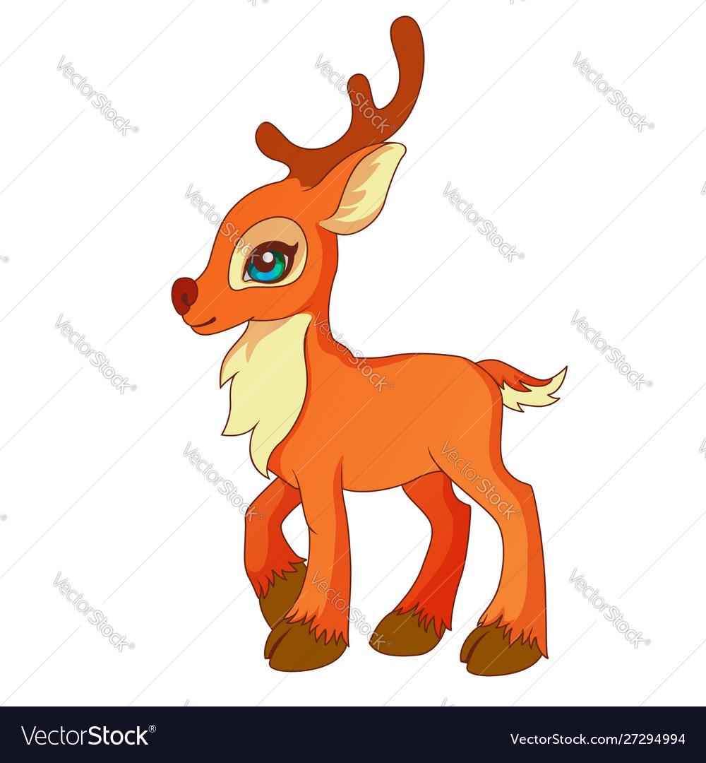 Cartoon style little deer