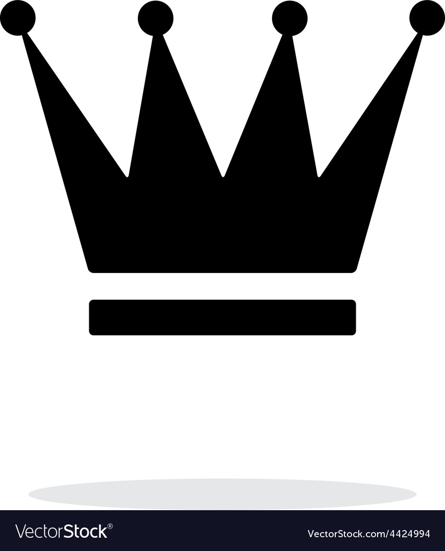 Crown Icon On White Background Royalty Free Vector Image