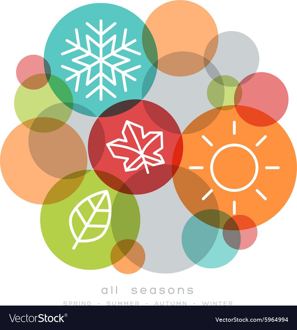 Four seasons icon symbol