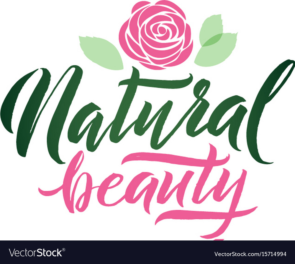 Logo natural beauty lettering custom vector image