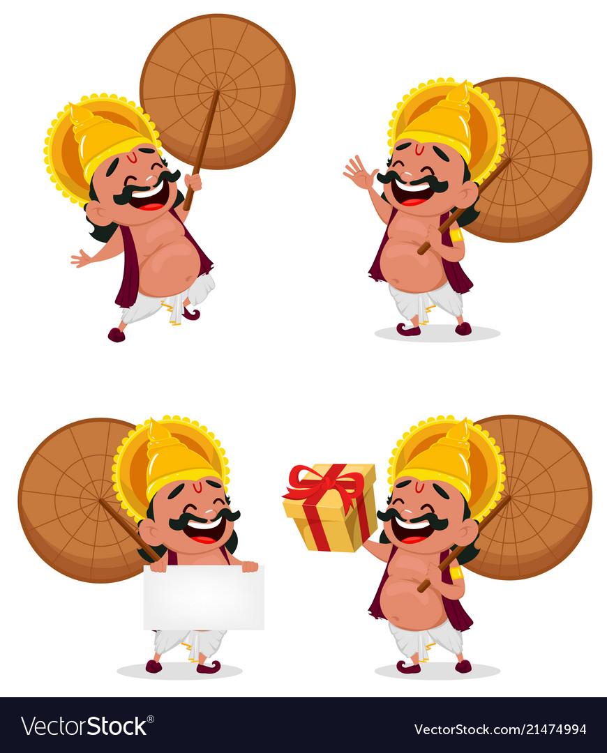 Onam Celebration King Mahabali Royalty Free Vector Image