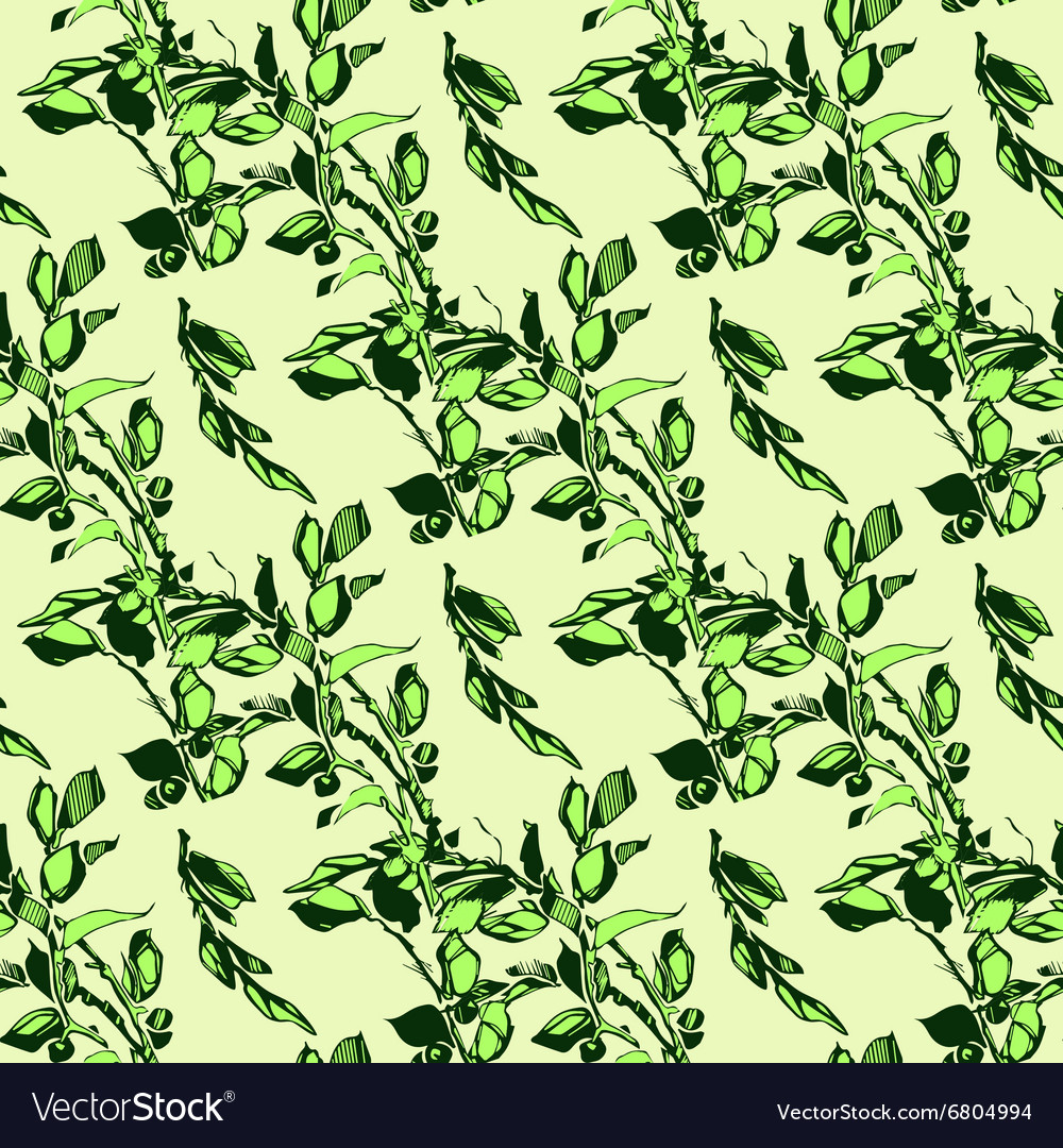Samless plant floral pattern Abstract