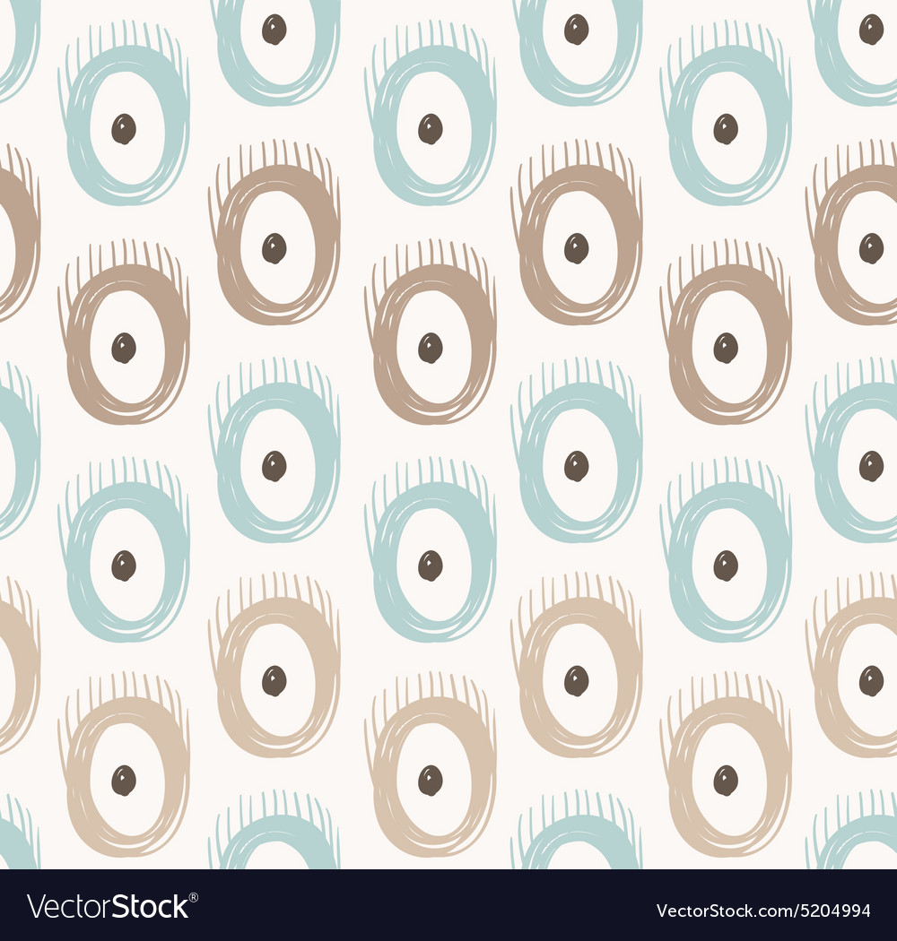 Tribal seamless pattern with abstract feathers and