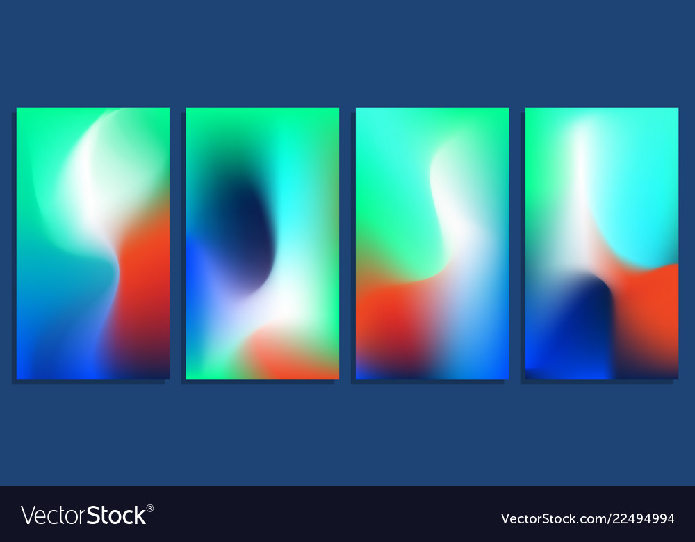 Vivid blurred holographic gradient backgrounds