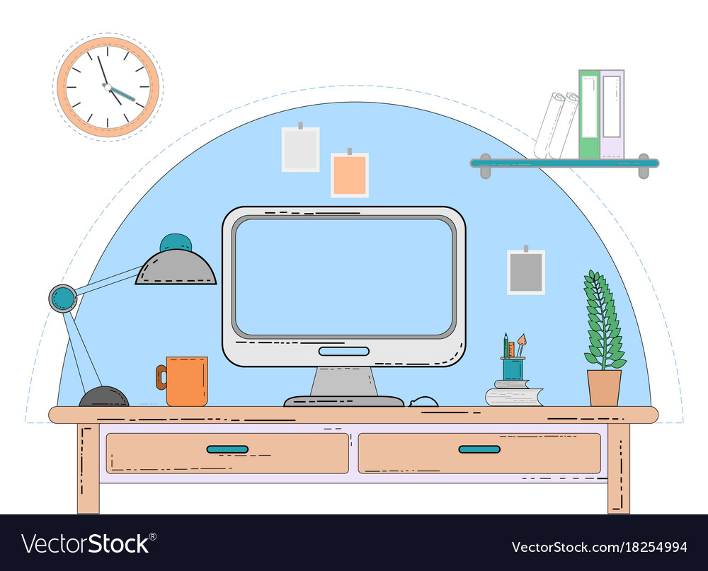 Workspace for freelancer with computer laptop