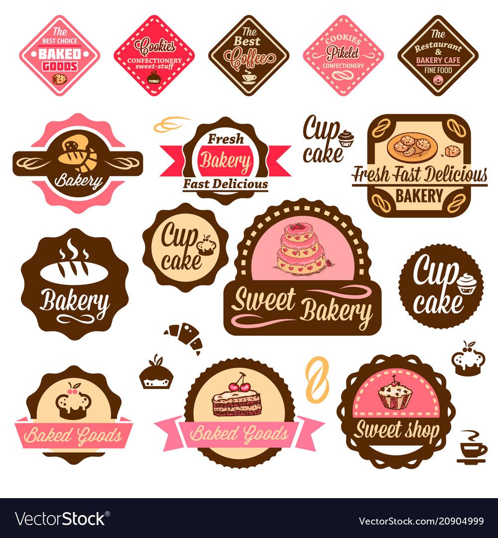 Baked goods design elements 1