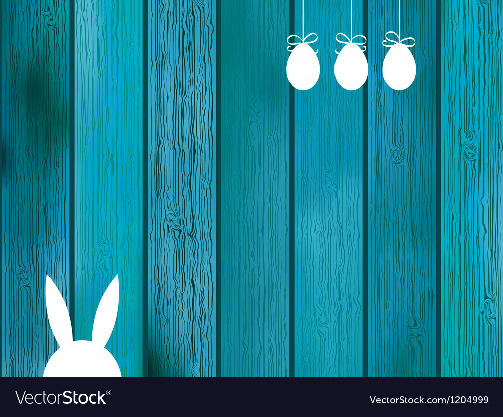 Blue background with copy space on wood EPS8 vector image